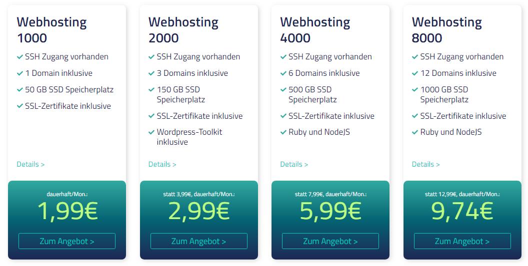 Netcup Webhosting Angebote